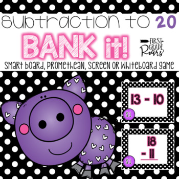 Subtraction to 20: Bank It! ~ Projectable Game