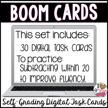 Subtraction to 20 Boom Cards