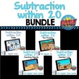 Subtraction to 20 Digital Task Card BUNDLE - Boom Cards