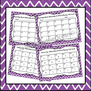 Subtraction to 20 Fact Fluency Task Cards - Winter Theme