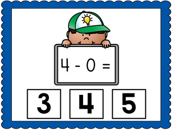 Subtraction to 5 BOOM CARDS Fun with Facts: Subtraction to 5