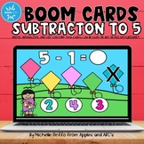 Subtraction within 5 Boom Cards for Kindergarten