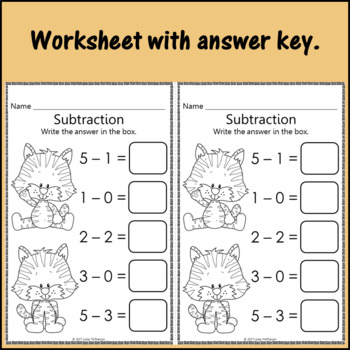 Interactive Math Game Subtraction within 5 {Dancing Tiger}