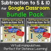 Subtraction to 5, Subtraction to 10 Distance Learning for