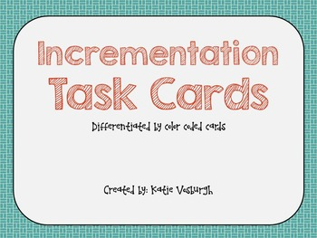 Subtraction using Incrementation StrategyTask Cards - Differentiated
