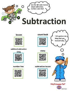 Subtraction using QR Codes