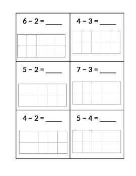 Subtraction using Ten Frames