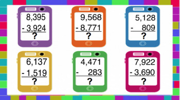 Subtraction w/ Regrouping Digital Interactive Notebook
