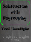 Subtraction w/ Regrouping ~ Self Monitoring Guided Practice ~