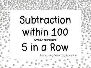 Subtraction within 100 5 in a Row Game
