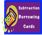 "Comparing Subtraction Problems: ""Borrowing / Regrouping or Not"" Sorting Cards"