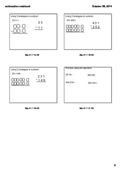 Subtraction with Decomposing and Algorithm 3.NBT.2