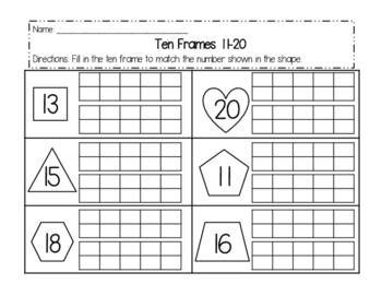 Subtraction with Double Ten Frames
