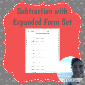 2-Digit Subtraction with Expanded Form Set