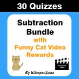 Subtraction Quiz with Funny Cat Video Rewards [Bundle]