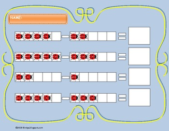 Subtraction with Ladybugs, from 1 to 5,  2 types of exercises