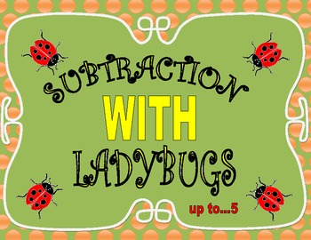 Subtraction with Ladybugs, from 1 to 5