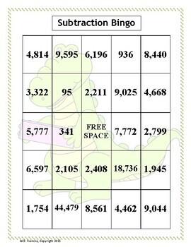 Subtraction Bingo (30 pre-made cards!)