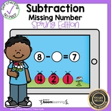 Subtraction with Missing Numbers  Boom Cards℠