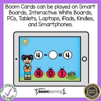 Boom Cards Subtraction with Missing Numbers