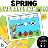Boom Cards Missing Number Subtraction Spring