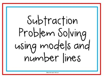 Subtraction with Part Part Whole and Number Lines
