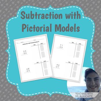 2-Digit Subtraction with Pictorial Models (Base Ten Blocks) Set