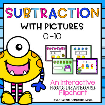 Subtraction with Pictures Numbers 0-10 - A Promethean Boar