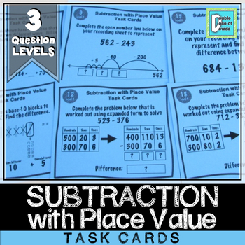 Subtraction with Place Value Task Cards