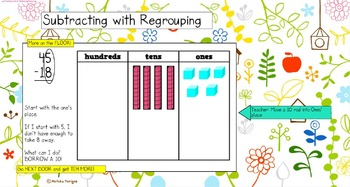Mimio Subtraction with Regrouping