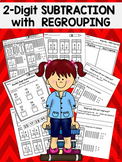 Double Digit Subtraction with Regrouping Worksheets and Posters