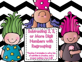 Subtraction with Regrouping (2 digits, 3 digits, or 6 digi