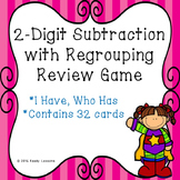 Subtraction I Have Who Has Game 2 Digit Subtraction with Regrouping Game 2.NBT.5