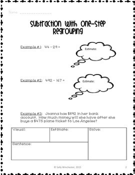 Subtraction with Regrouping, 5-Day Lesson Bundle + Quizzes, Great for Tutoring!