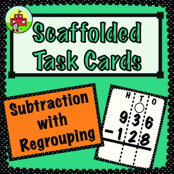Subtraction with Regrouping Task Cards (3-Digit)