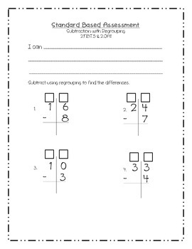 Subtraction with Regrouping: A Common Core Assessment