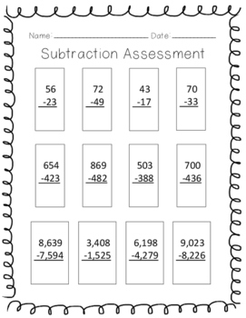Subtraction with Regrouping Assessment