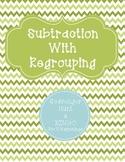 Subtraction with Regrouping BINGO & Scavenger Hunt
