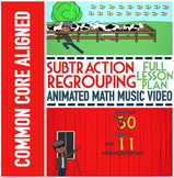 SUBTRACTION WITH REGROUPING Worksheets: Subtraction Regrouping Activities & Game