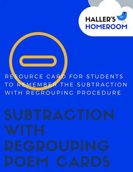 Subtraction with Regrouping Cards