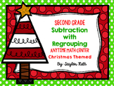 Subtraction with Regrouping Christmas Themed Math Centers