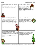 Subtraction with Regrouping Christmas Word Problems