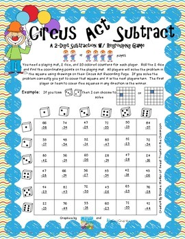 Subtraction with Regrouping- Circus Act Subtract