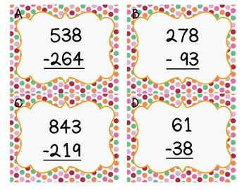 Subtraction with Regrouping Hunt
