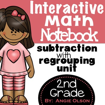 Subtraction with Regrouping Second Grade Math Notebook