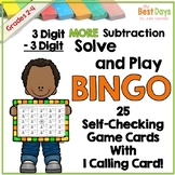 3 Digit Subtraction with Regrouping: MORE 3 Digit by 3 Digit Bingo