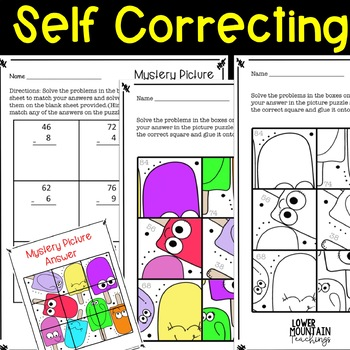 Subtraction with Regrouping Mystery Picture