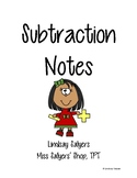 Subtraction with Regrouping Notes