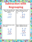 Subtraction with Regrouping Poster