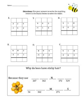 Subtraction with Regrouping Puzzle